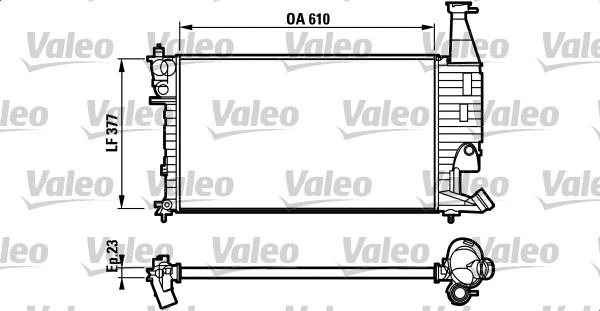 Radiateur, refroidissement du moteur - VALEO - 732563