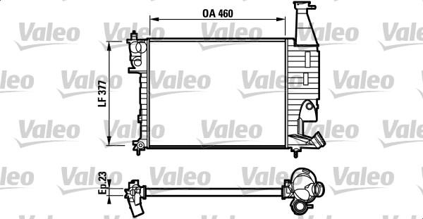 Radiateur, refroidissement du moteur - VALEO - 732564