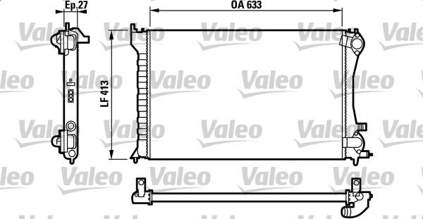 Radiateur, refroidissement du moteur - VALEO - 732567