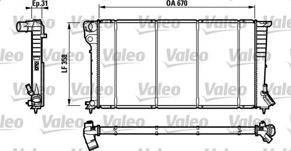 Radiateur, refroidissement du moteur - VALEO - 732577