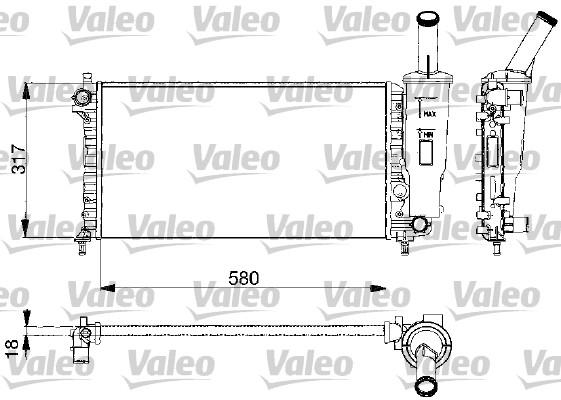 Radiateur, refroidissement du moteur - VALEO - 732578
