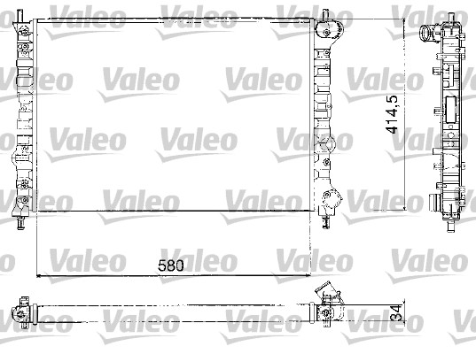 Radiateur, refroidissement du moteur - VALEO - 732580