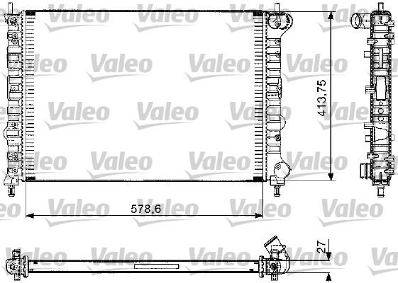 Radiateur, refroidissement du moteur - VALEO - 732582