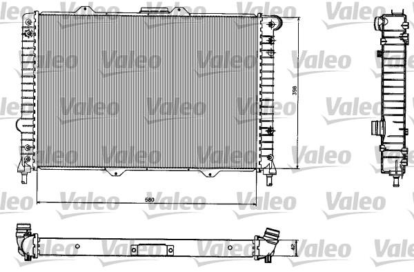 Radiateur, refroidissement du moteur - VALEO - 732584