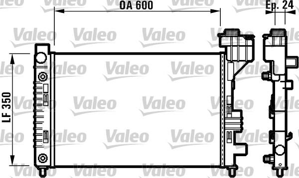 Radiateur, refroidissement du moteur - VALEO - 732587