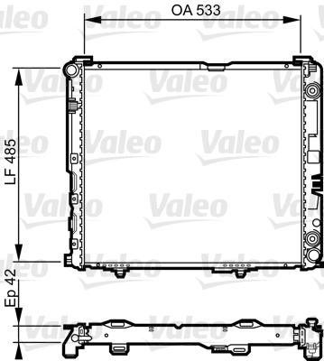 Radiateur, refroidissement du moteur - VALEO - 732591