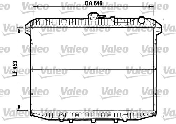 Radiateur, refroidissement du moteur - VALEO - 732592