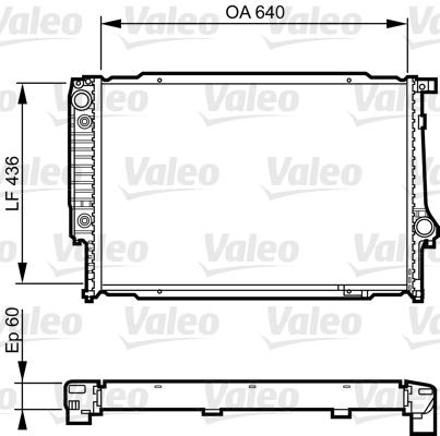 Radiateur, refroidissement du moteur - VALEO - 732596