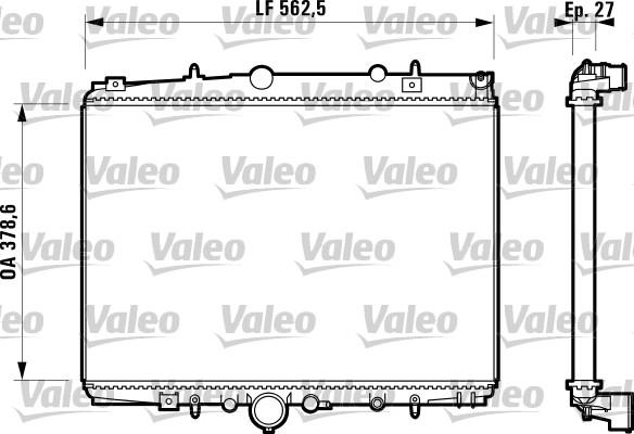Radiateur, refroidissement du moteur - VALEO - 732598
