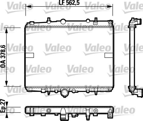 Radiateur, refroidissement du moteur - VALEO - 732599