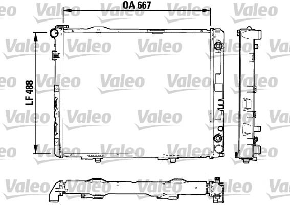 Radiateur, refroidissement du moteur - VALEO - 732605