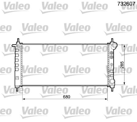 Radiateur, refroidissement du moteur - VALEO - 732607