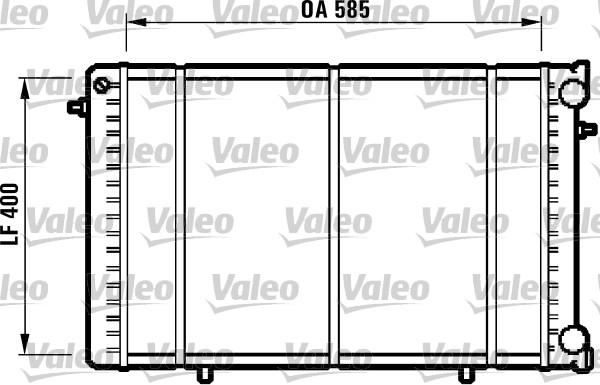 Radiateur, refroidissement du moteur - VALEO - 732608