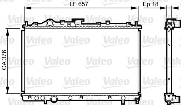 Radiateur, refroidissement du moteur - VALEO - 732612