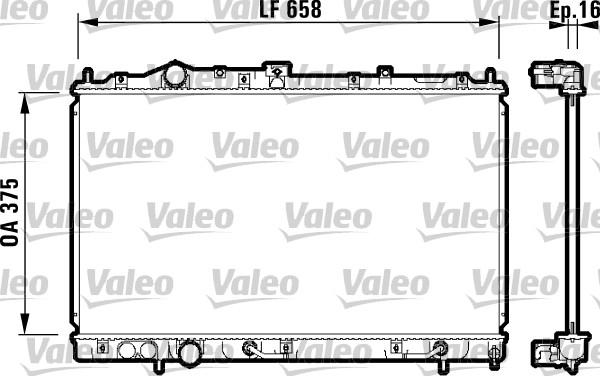 Radiateur, refroidissement du moteur - VALEO - 732613