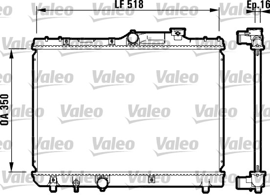 Radiateur, refroidissement du moteur - VALEO - 732614