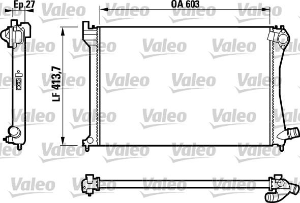 Radiateur, refroidissement du moteur - VALEO - 732617