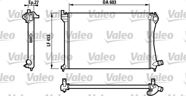 Radiateur, refroidissement du moteur - VALEO - 732618