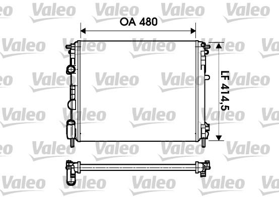 Radiateur, refroidissement du moteur - VALEO - 732621