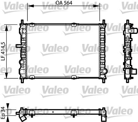 Radiateur, refroidissement du moteur - VALEO - 732623