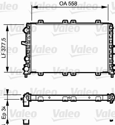 Radiateur, refroidissement du moteur - VALEO - 732685