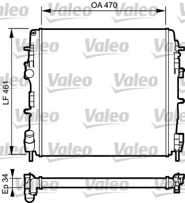 Radiateur, refroidissement du moteur - VALEO - 732687