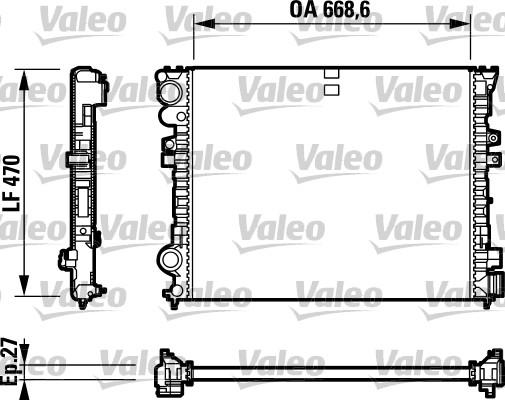 Radiateur, refroidissement du moteur - VALEO - 732692