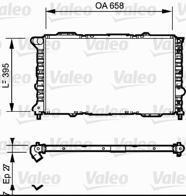 Radiateur, refroidissement du moteur - VALEO - 732696