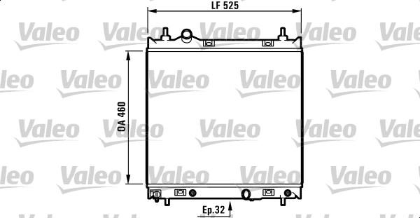 Radiateur, refroidissement du moteur - VALEO - 732704