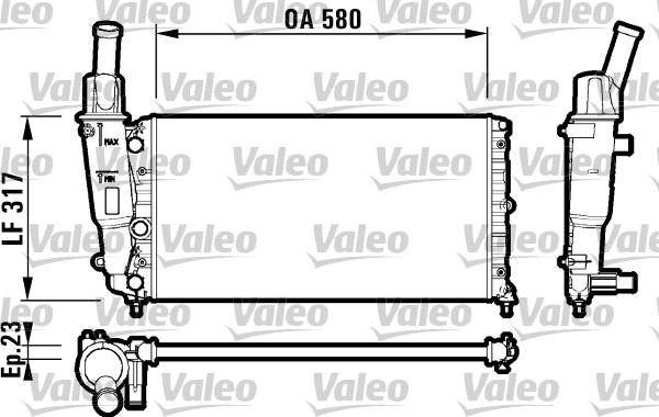Radiateur, refroidissement du moteur - VALEO - 732705