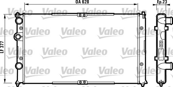 Radiateur, refroidissement du moteur - VALEO - 732710