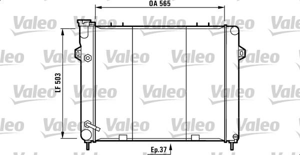 Radiateur, refroidissement du moteur - VALEO - 732713