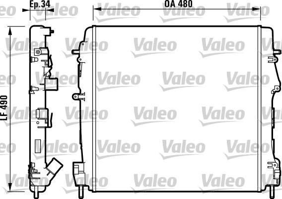 Radiateur, refroidissement du moteur - VALEO - 732717