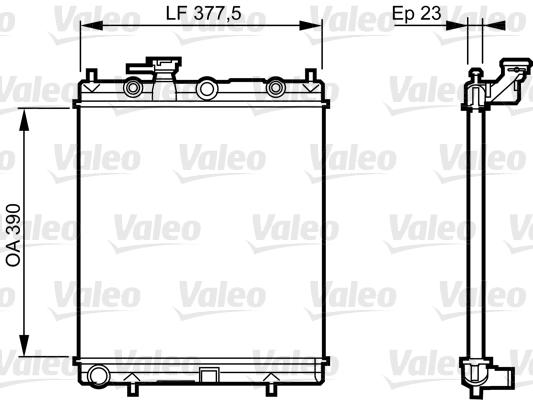 Radiateur, refroidissement du moteur - VALEO - 732718