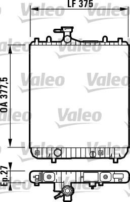 Radiateur, refroidissement du moteur - VALEO - 732719