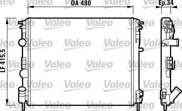 Radiateur, refroidissement du moteur - VALEO - 732721