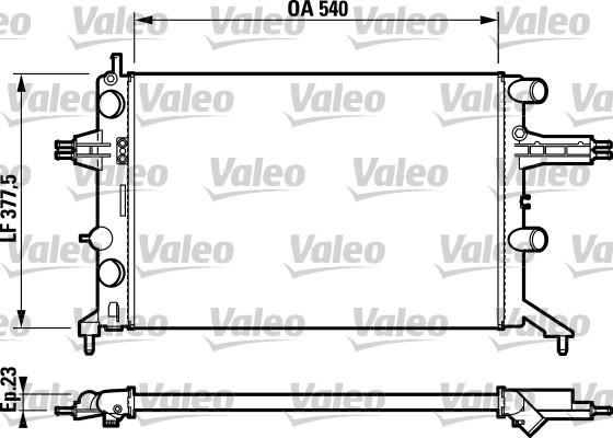 Radiateur, refroidissement du moteur - VALEO - 732723