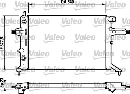 Radiateur, refroidissement du moteur - VALEO - 732724