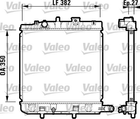 Radiateur, refroidissement du moteur - VALEO - 732726
