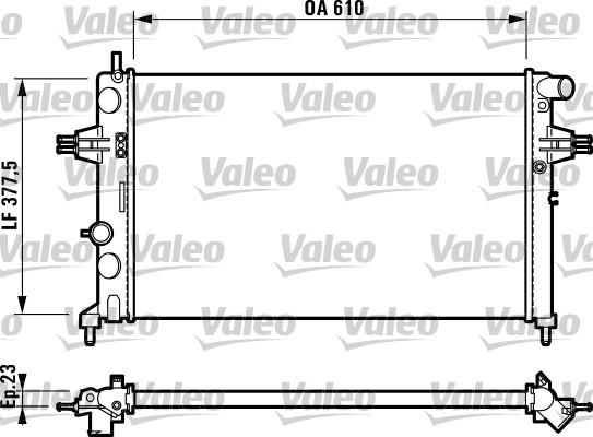 Radiateur, refroidissement du moteur - VALEO - 732729