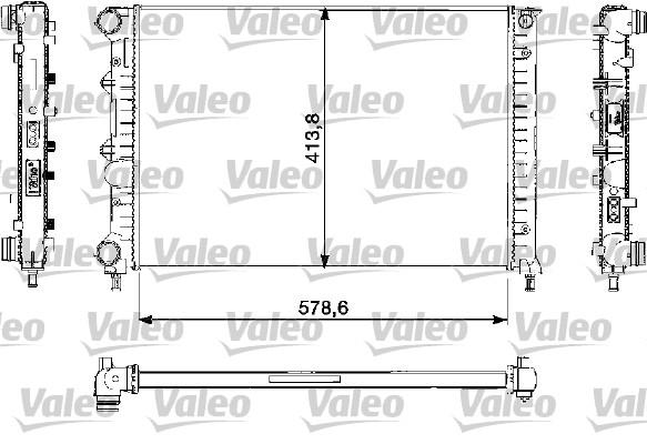 Radiateur, refroidissement du moteur - VALEO - 732730