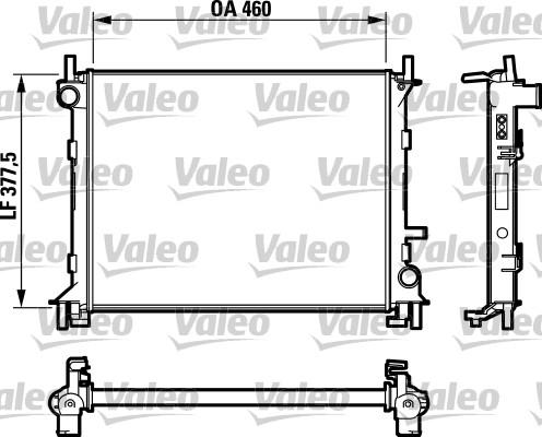 Radiateur, refroidissement du moteur - VALEO - 732731