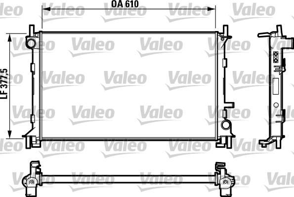 Radiateur, refroidissement du moteur - VALEO - 732732