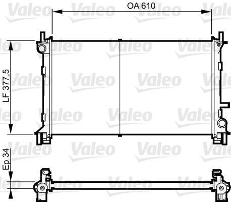 Radiateur, refroidissement du moteur - VALEO - 732735