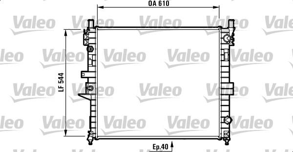 Radiateur, refroidissement du moteur - VALEO - 732736