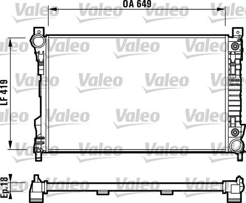 Radiateur, refroidissement du moteur - VALEO - 732740