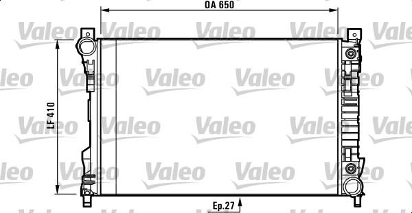 Radiateur, refroidissement du moteur - VALEO - 732741