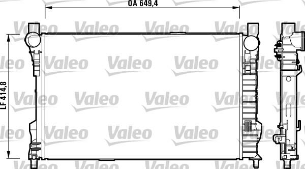 Radiateur, refroidissement du moteur - VALEO - 732742