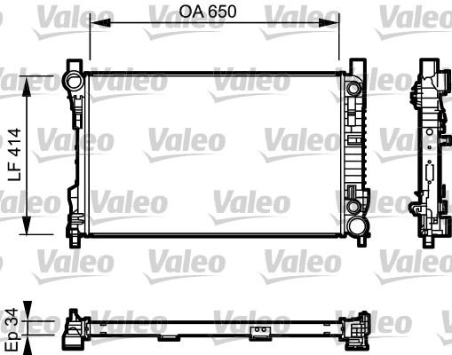 Radiateur, refroidissement du moteur - VALEO - 732743