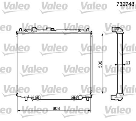 Radiateur, refroidissement du moteur - VALEO - 732748